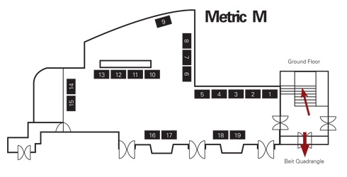 Metric in Union Building map