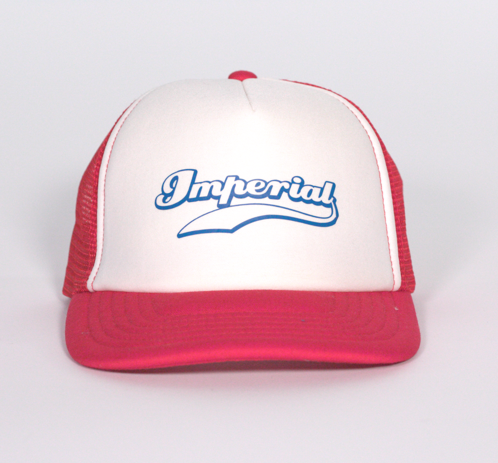 Imperial Kids Trucker Cap in Red