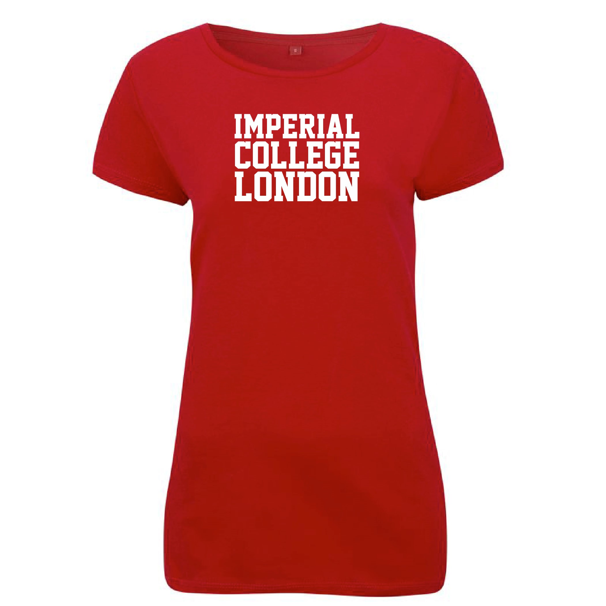 Ladies Imperial Block Letter T-Shirt in Red