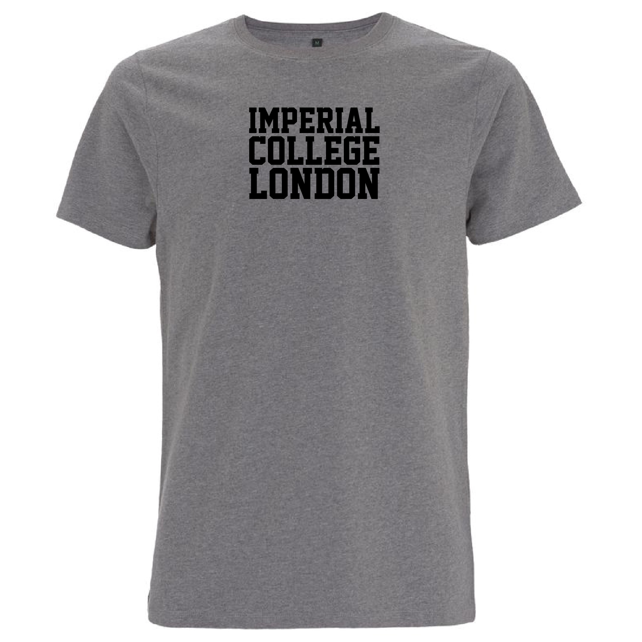 Imperial Block Letter T-Shirt in Grey