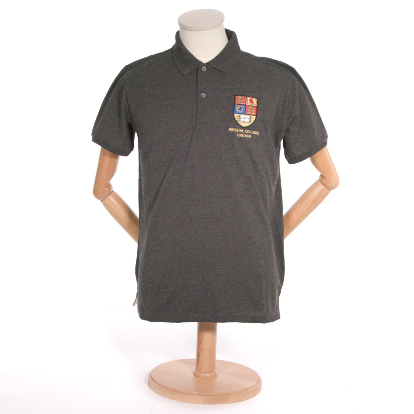 Crest Polo-Shirt in Charcoal
