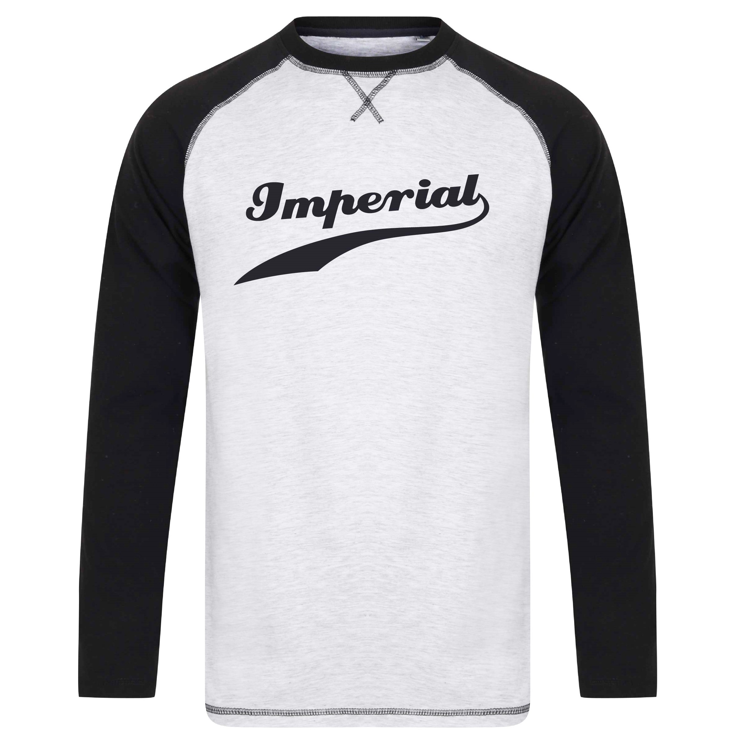 Imperial Swoosh L/S T-Shirt in Black