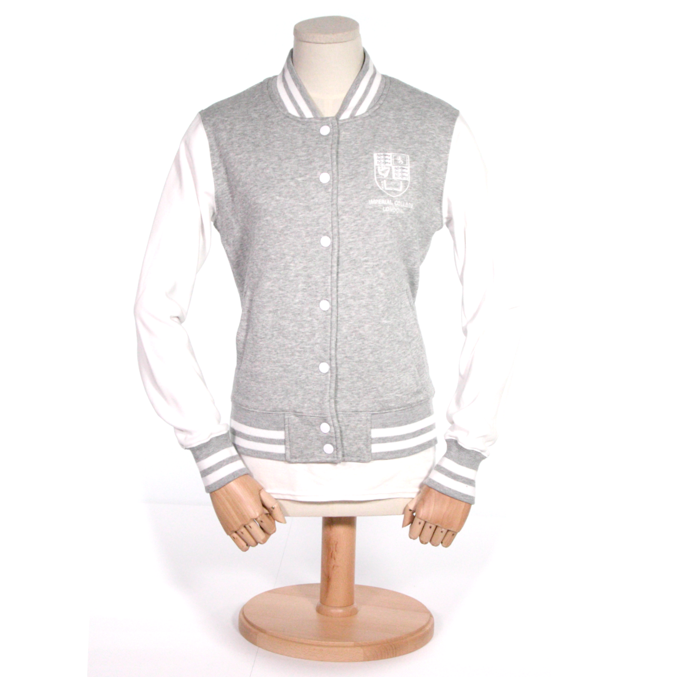 Ladies Crest Varsity Jacket Grey