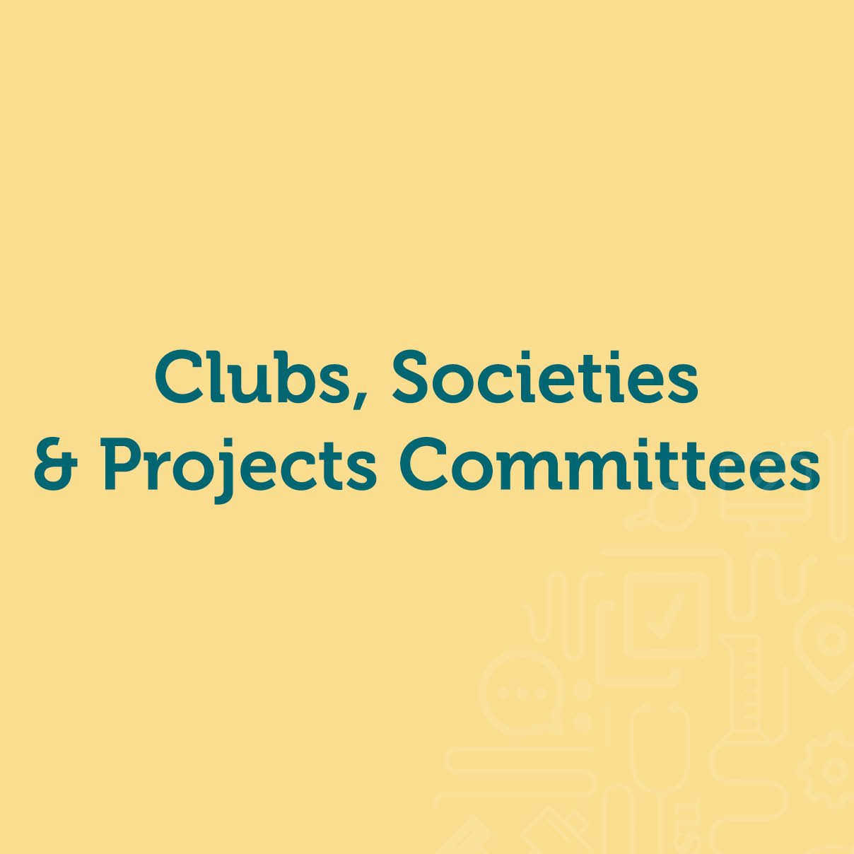 Club, Society & Project Leaders