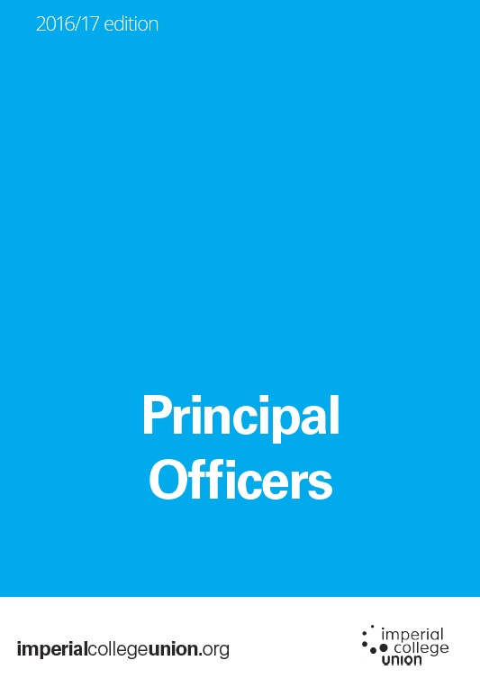 Principal Officers front cover
