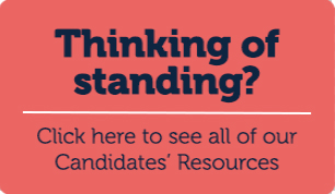 Thinking of running in the election? Check out our Candidates' Resources