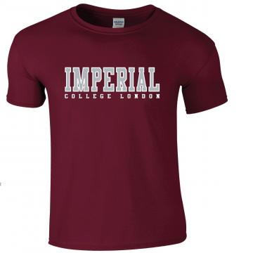 Imperial USA T-Shirt in Burgundy