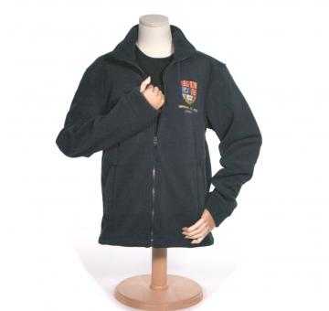 Crest Zip Up Fleece in Navy