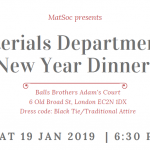 Materials New Year's Dinner Tickets - General Release Image