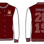 Graduation Varsity Jackets - RED/WHITE Image