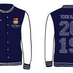 Graduation Varsity Jackets - NAVY/WHITE Image