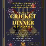 Cricket Dinner - Student ticket Image